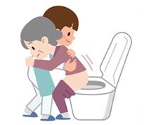 患者様の排泄パターンにあった排泄介助を実施しています。自立度にあわせた介助方法で行っています。