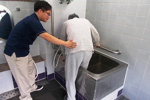 お風呂の入り方の評価と相談